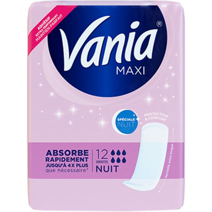Vania maxi spéciale nuit 12 serviettes Vania-223737