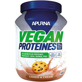 Vegan protéines cookie & cream 660g - apurna -225307