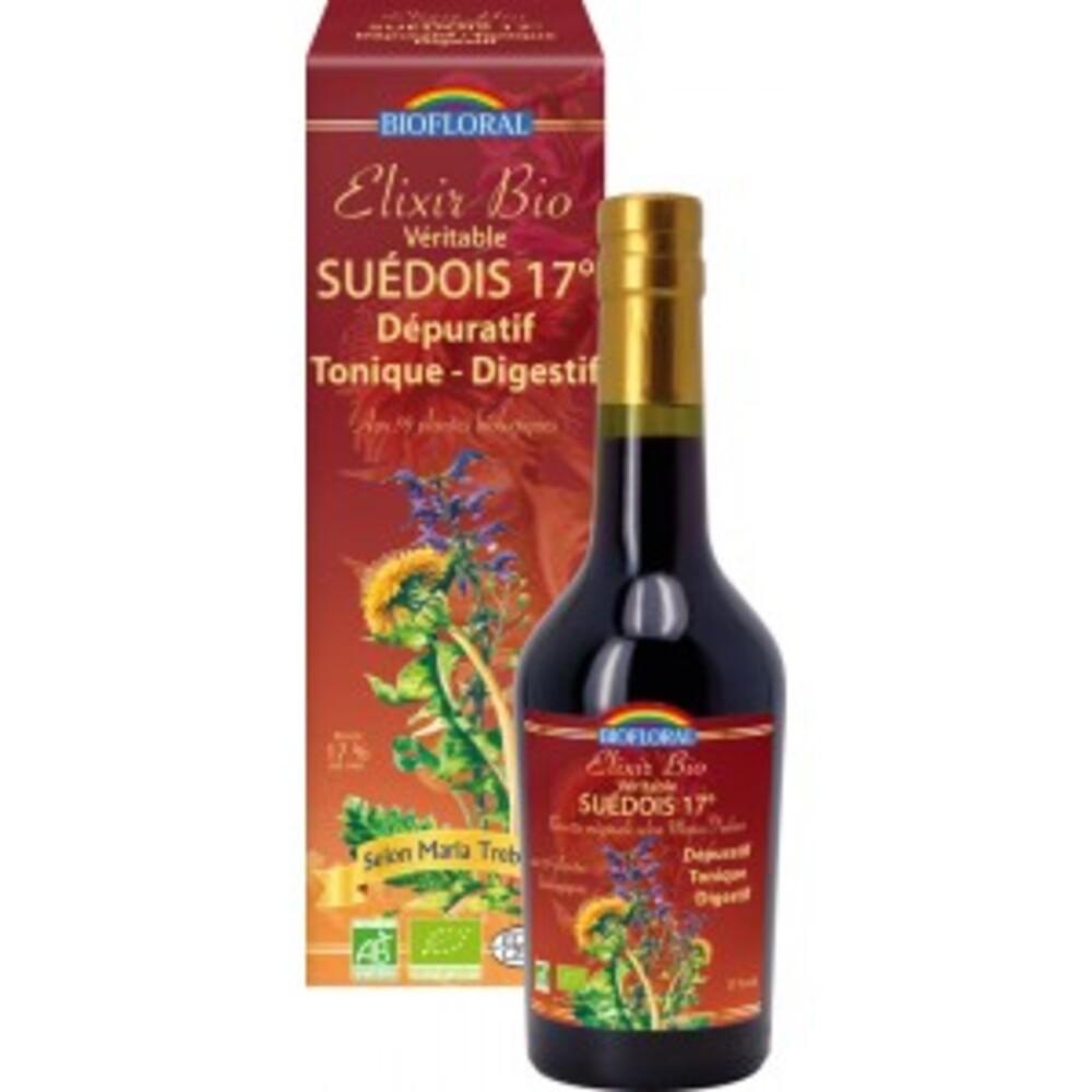 Véritable elixir du suèdois bio 17°5 - 375.0 ml - véritable élixir du suédois - biofloral Dépuratif, tonique, digestif-7462