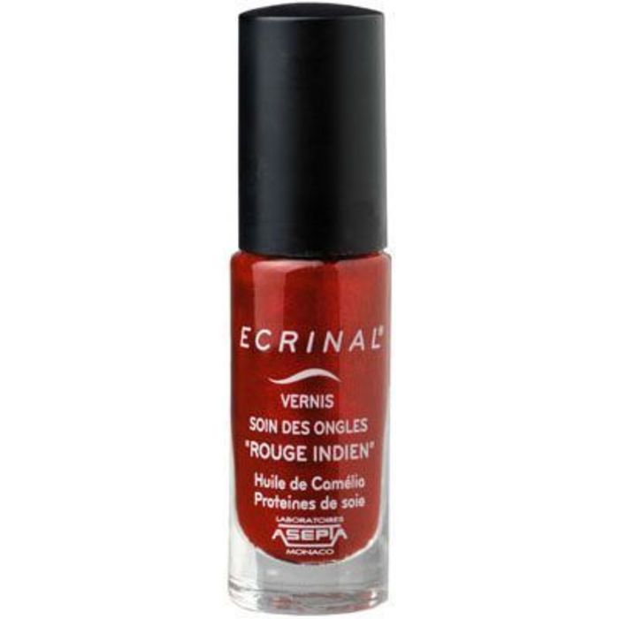 Vernis soin des ongles rouge indien 6ml Ecrinal-222973