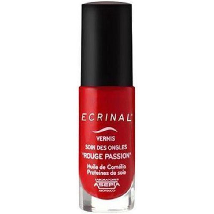 Vernis soin des ongles rouge passion 6ml Ecrinal-222974