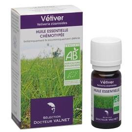 Vétiver bio - 10.0 ml - les huiles essentielles bio - dr. valnet Peau-15175