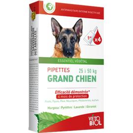Vetobiol antiparasitaire externe grand chien 4 pipettes - vétobiol -216378