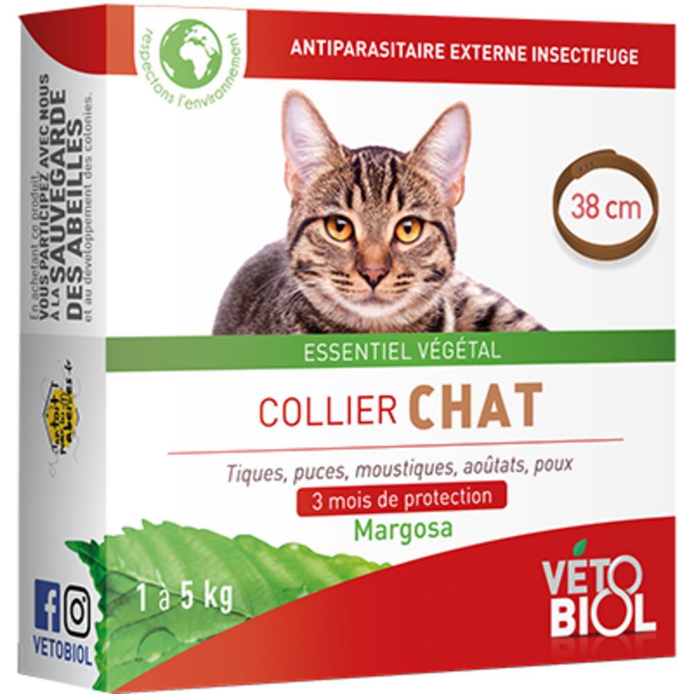 Vetobiol collier chat 1 à 5kg 38cm marron - vétobiol -216352