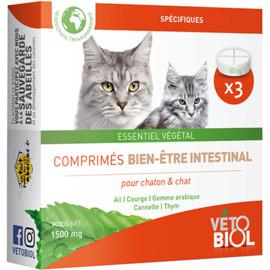 Vetobiol hygiène intestinale chat et chaton 3 comprimés - vétobiol -216374
