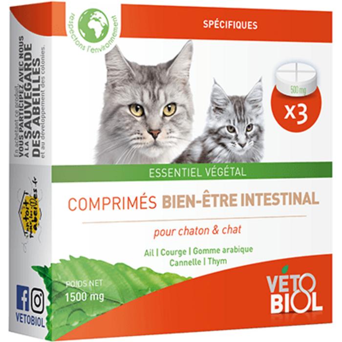 Vetobiol hygiène intestinale chat et chaton 3 comprimés Vétobiol-216374