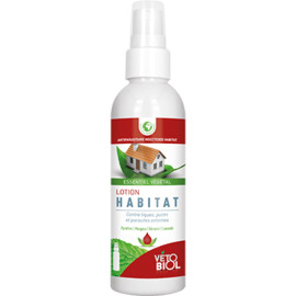 Vetobiol lotion habitat 100ml - 100.0 ml - insectifuge naturel - vétobiol Lotion insecticide pour l'environnement.-138995