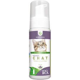 Vetobiol mousse chat shampooing sec 100ml - vétobiol -216360