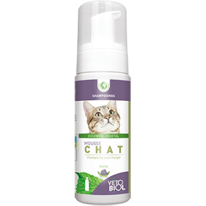 Vetobiol mousse chat shampooing sec 100ml Vétobiol-216360