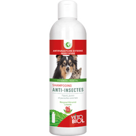 Vetobiol shampooing anti-insectes - 200.0 ml - insectifuge naturel - vétobiol Shampooing à action insectifuge à l'huile essentielle de Margosa-138996