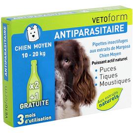 Vetoform antiparasitaire chien moyen 10-20kg - vetoform -199747
