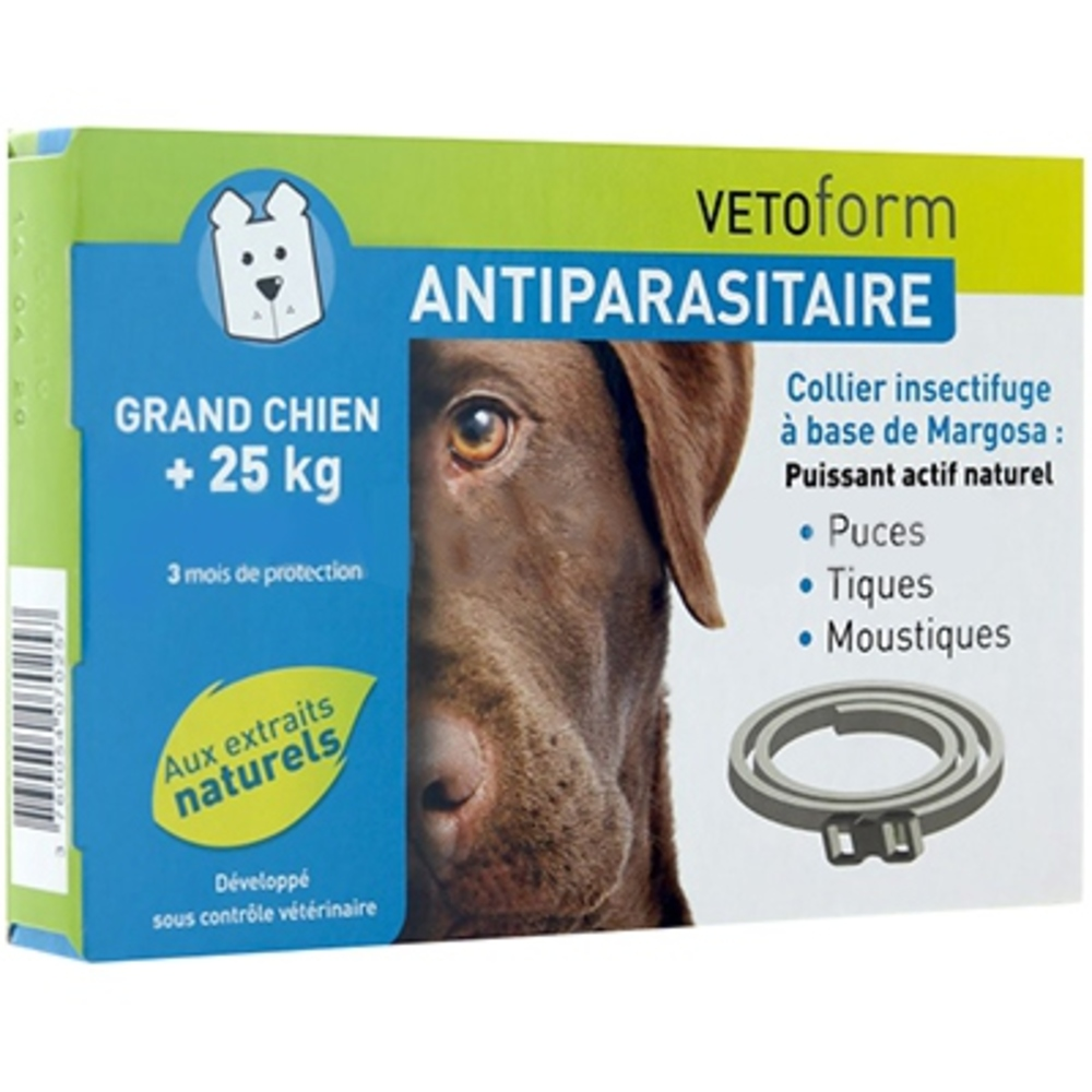 Vetoform collier antiparasitaire grand chien +25kg - vetoform -199749