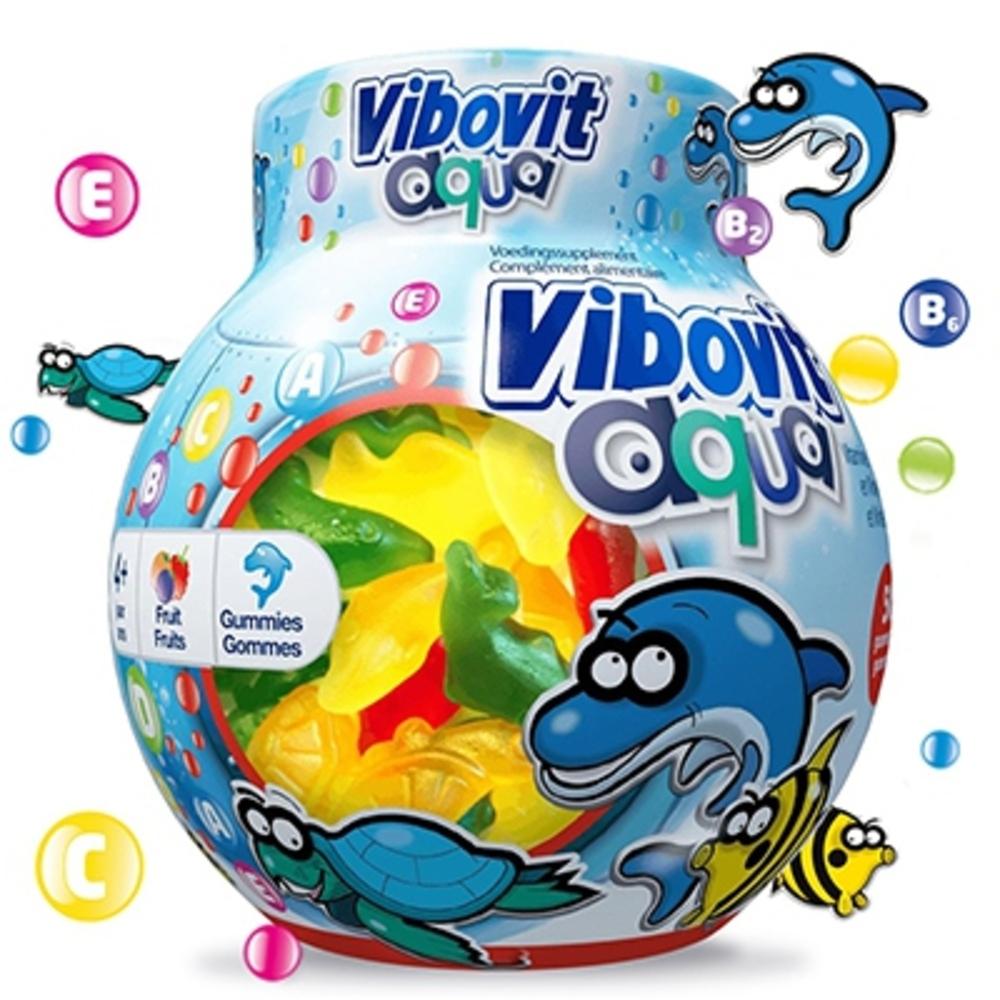Vibovit aqua vitamines minéraux +4ans 50 gommes - vibovit -206117