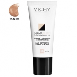 Vichy dermablend fond de teint fluide 25 nude - 30.0 ml - teint - vichy Défauts cutanés légers à modérés-83458