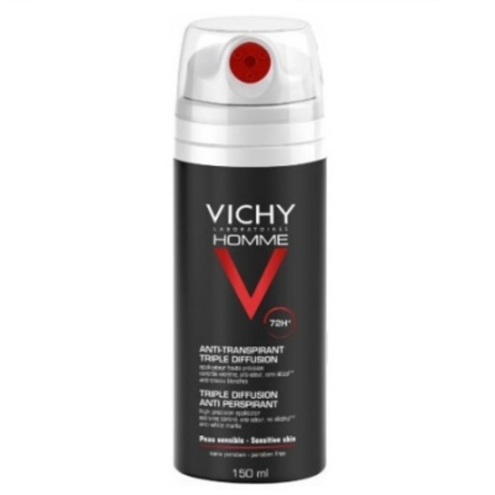 Vichy homme anti-transpirant triple diffusion - 150.0 ml - vichy -191252