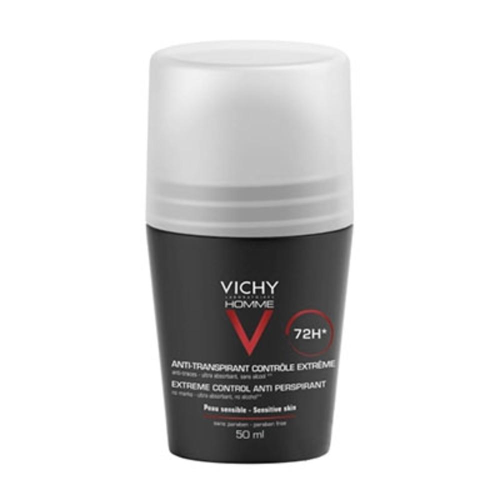VICHY HOMME Déodorant Anti-transpirant 72h - 50.0 ml - VICHY HOMME - Vichy Régulation intense-92573