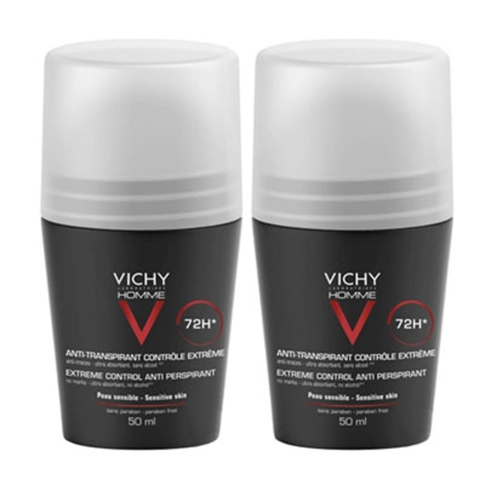 Vichy homme déodorant anti-transpirant 72h - lot de 2 - 50.0 ml - vichy homme - vichy -83074