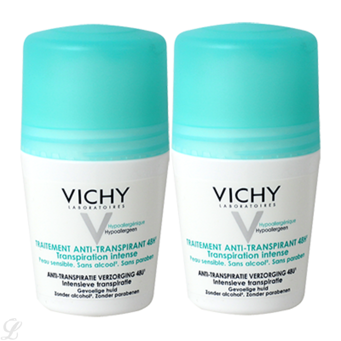 prix de vichy deodorant anti transpirant 48h bille lot de 2 x 50ml. Black Bedroom Furniture Sets. Home Design Ideas