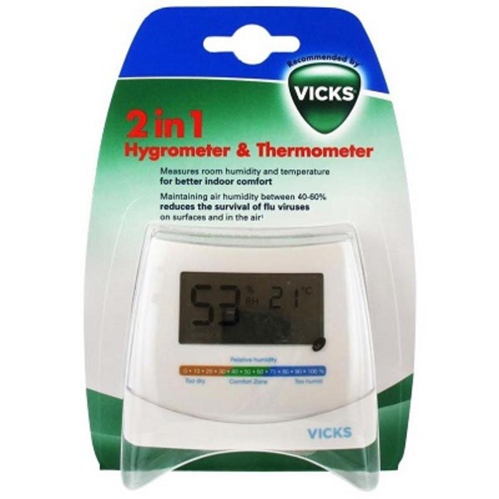 Vicks hygromètre thermomètre 2 en 1 - vicks -199236
