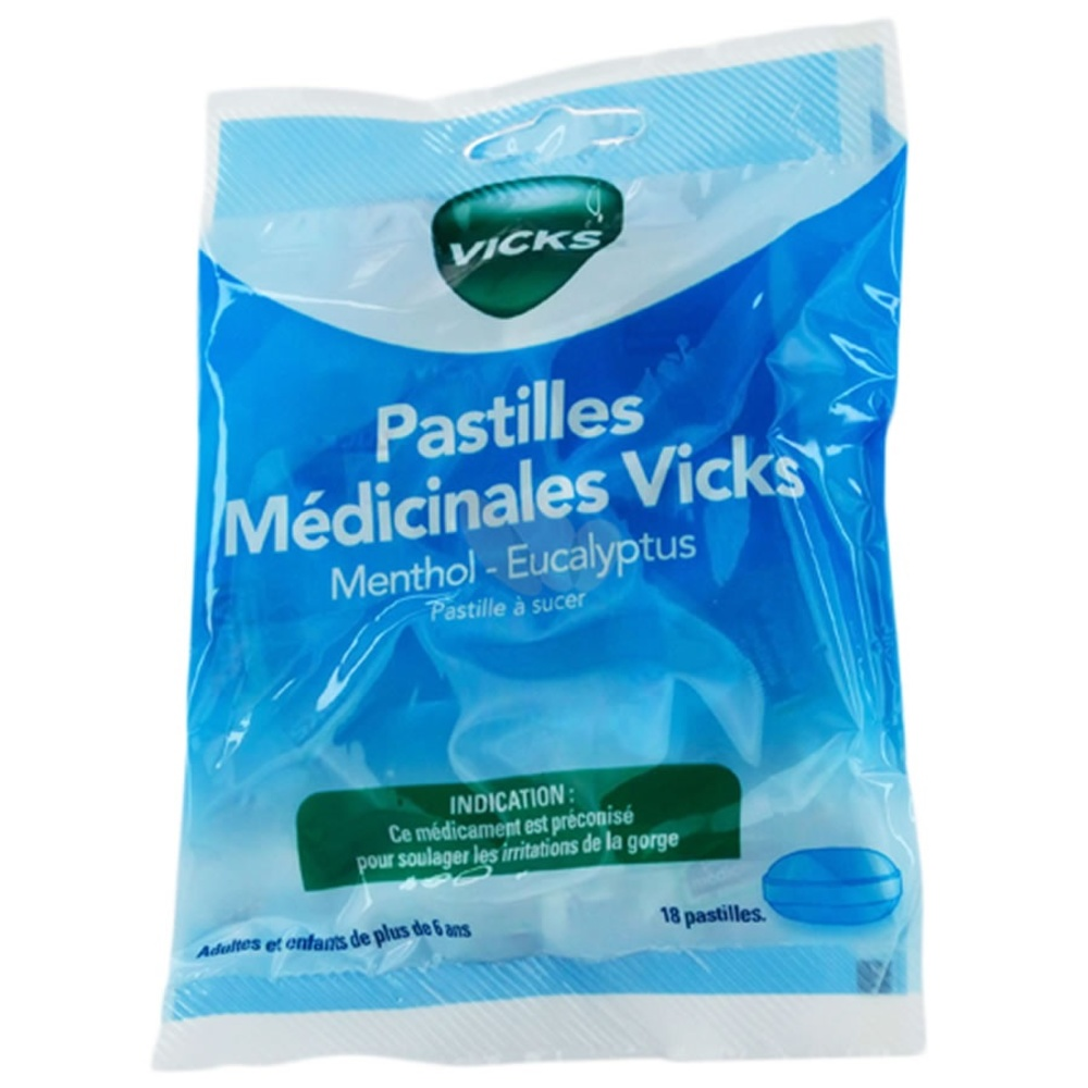 Vicks pastilles médicinales menthol eucalyptus - procter & gamble -193062