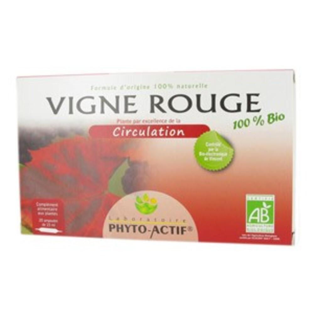 Vigne rouge bio - 20 ampoules - divers - phyto-actif -137300