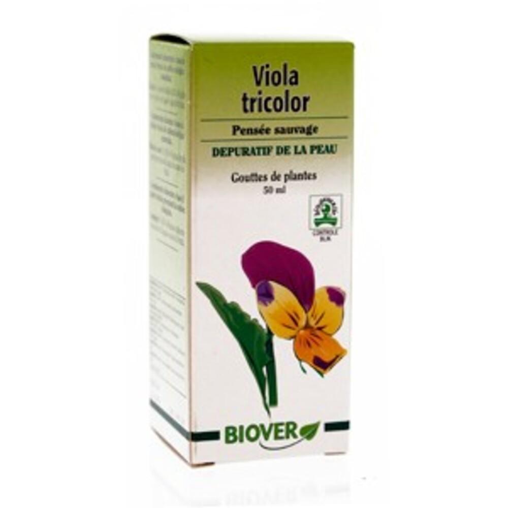 Viola tricolor (pensée sauvage) bio - 50.0 ml - gouttes de plantes - teintures mères - biover Purifie le corps et la peau-8999