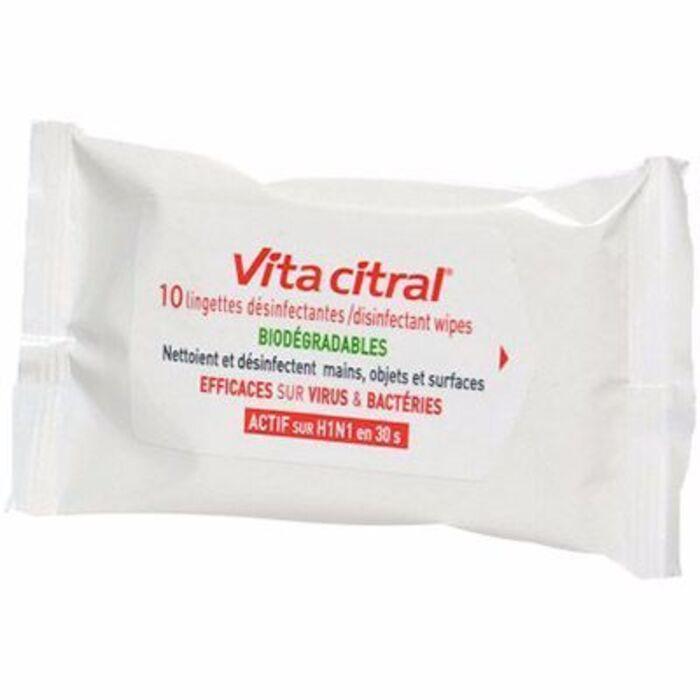 Vita citral lingettes désinfectantes biodégradables x10 Vita citral-215401