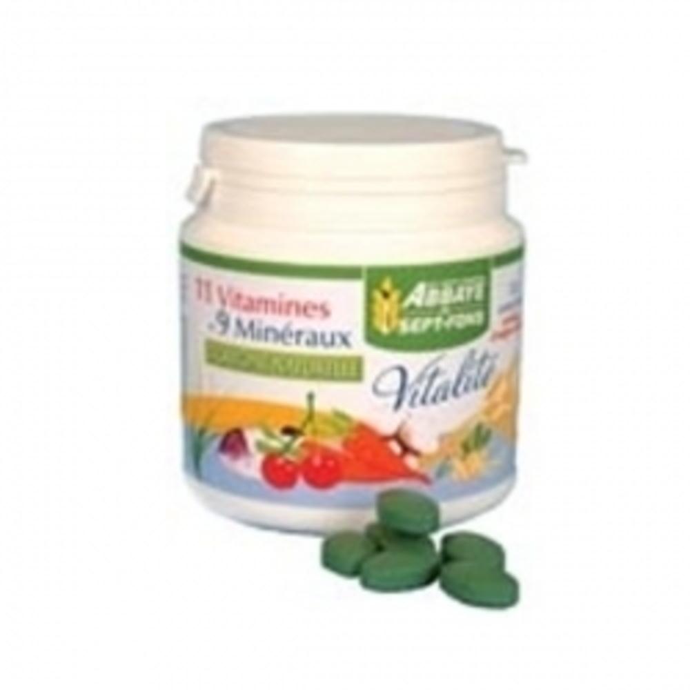Vitalité 11 - 120.0 unites - compléments alimentaires - abbaye de sept-fons 11 vitamines et 9 minéraux d'origine naturelle-11971