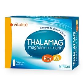 Vitalité fer vitamine b9 - 60 gélules - thalamag -203293