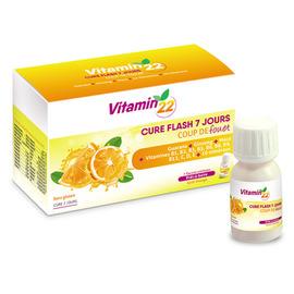 Vitamin 22 - 7 flacons unidoses - ineldea - ineldea Coup de fouet + défenses naturelles + performance-11004