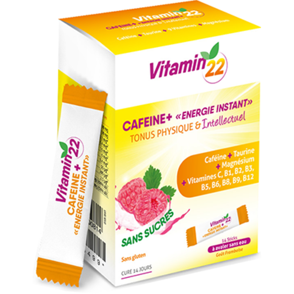 Vitamin 22 caféine+ 14 sticks - ineldea -223725