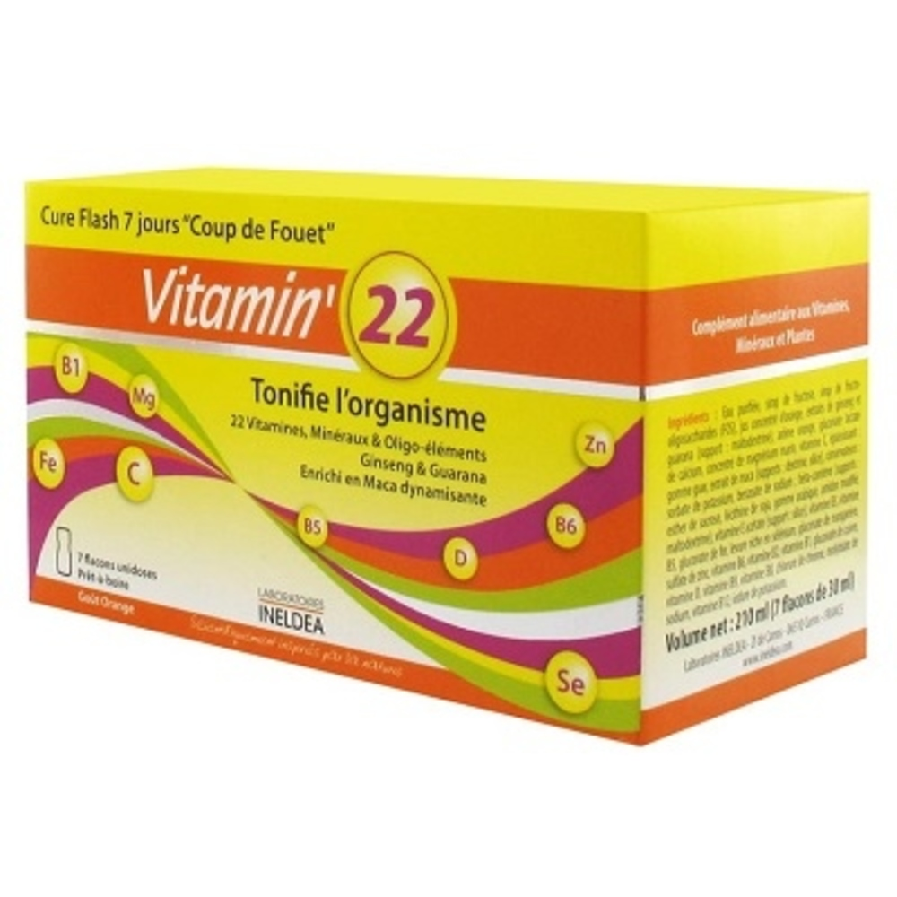 Vitamin 22 - ineldea - ineldea Coup de fouet + défenses naturelles + performance-11004