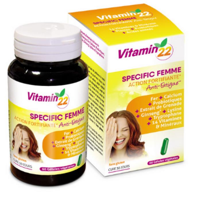 Vitamin 22 specific femme 60 gélules Ineldea-136451