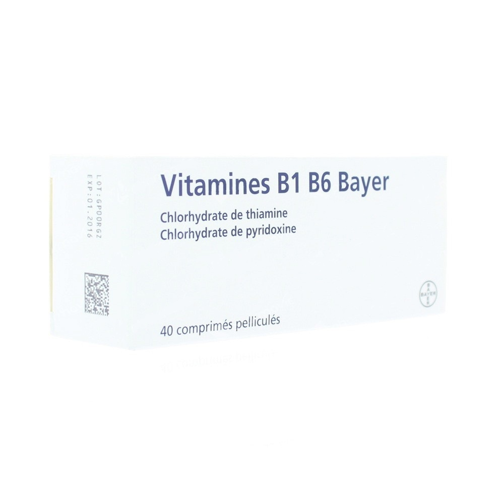 Vitamine b1 b6 - 40 comprimés pelliculés - bayer -192446