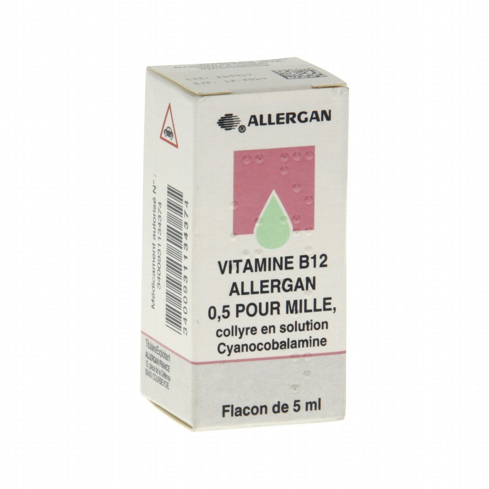 Vitamine b12 collyre - 5.0 ml - allergan -192638