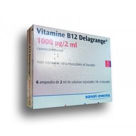 Vitamine b12 delagrange - 6 ampoules x - 2.0 ml - sanofi -193942