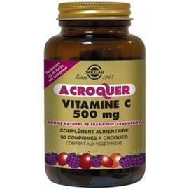 Vitamine c 500mg à croquer - arôme framboise cranberry - solgar -205338