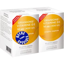 Vitamine d3 - 2x60 capsules - granions -205814