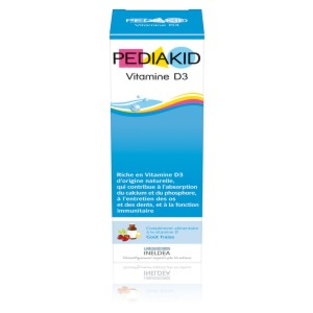 Vitamine D3, fraise - flacon 20 ml - divers - Pediakid -140223