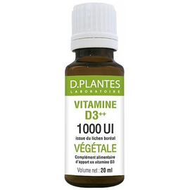 Vitamine d3++ végétale compte-gouttes 20ml - d plantes laboratoire -219467