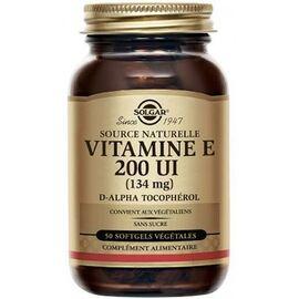 Vitamine e 200 ui - 50 softgels végétales - solgar -225756