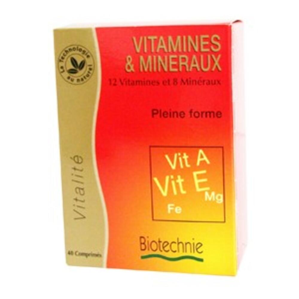 Vitamines & minéraux - 40 gélules - divers - biotechnie -134289
