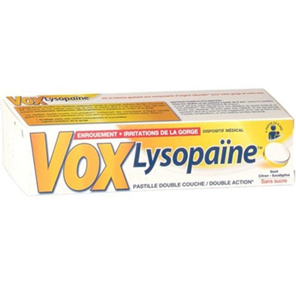 Vox lysopaïne goût citron/eucalyptus - 18 pastilles - boehringer ingelheim -146326