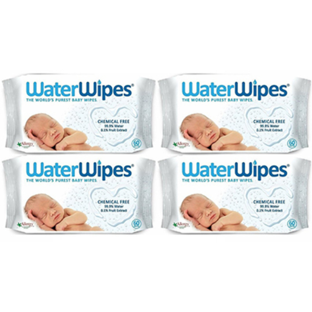 Waterwipes lingettes bébé 100% naturelles - lot de 4 x 60 lingettes - waterwipes -221599