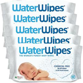 Waterwipes lingettes bébé 100% naturelles - lot de 5x60 lingettes - waterwipes -222754