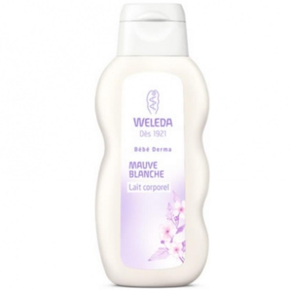 Weleda bébé derma lait corporel mauve blanche - 200ml - 200.0 ml - bébé - weleda Adoucit et calme les irritations-189998