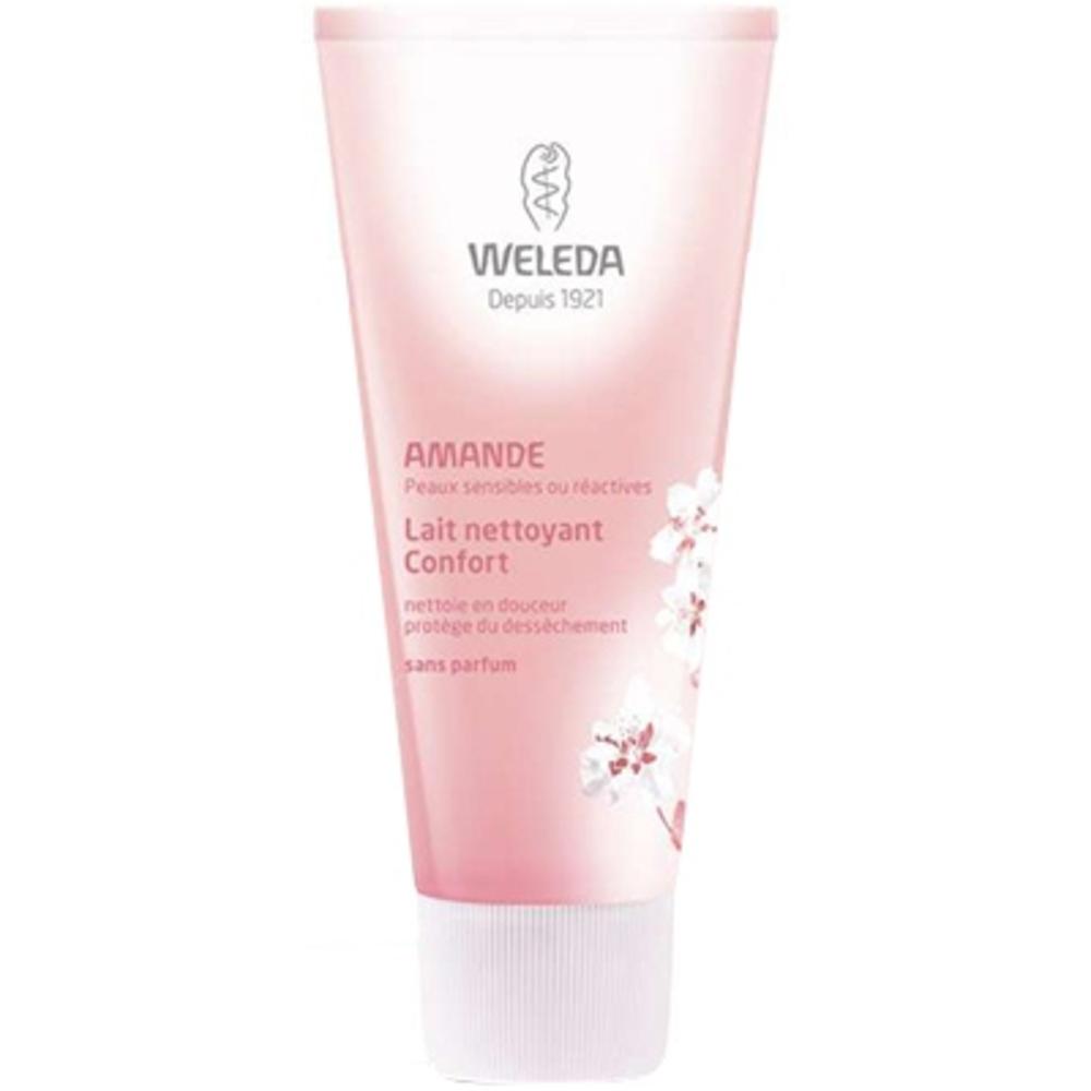 Weleda lait nettoyant confort amande - 75.0 ml - visage - weleda Nettoie en douceur et protège du dessèchement-111684