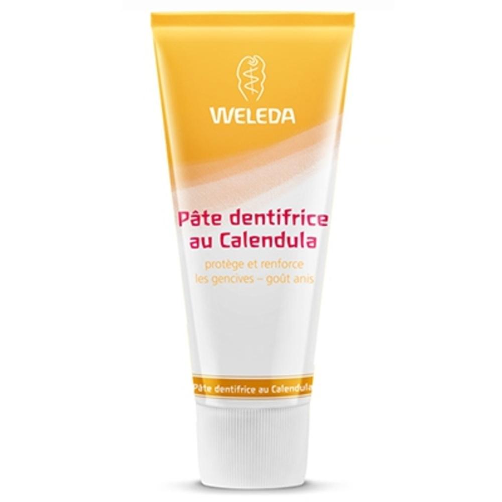 Weleda pâte dentifrice au calendula - 75.0 ml - dentaires - weleda Protège et renforce les gencives - goût Anis-536