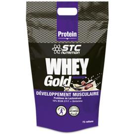 Whey gold développement musculaire saveur chocolat doypack de 2,2 kg - stc nutrition -221324