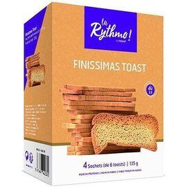Ysonut la rythmo finissimas toast 4 sachets de 6 toasts - ysonut -221740